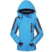 GIVBRO Waterproof Jacket Womens Rain Jacket -[UPGRADED 2018] Raincoat Ladies Outdoor Hooded Softshell Camping Hiking Mountaineer Running Jackets