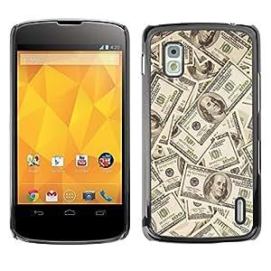 PC/Aluminum Funda Carcasa protectora para LG Google Nexus 4 E960 Money Dollar Wallpaper Wealth Symbol Usa / JUSTGO PHONE PROTECTOR