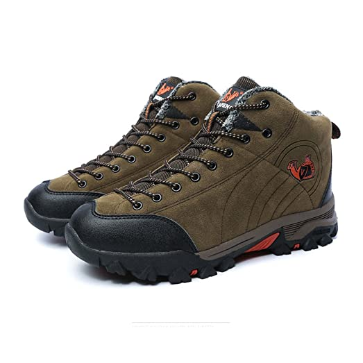 Women's and Men's Winter Cotton Warm Hiker Leather Waterproof Hiking Boot Outdoor Backpacking Shoe
