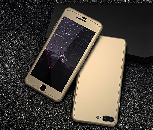 Iphone 7 PLUSケース&スクリーンプロテクターパッケージ。 (ゴールド)   B06Y5TGG68