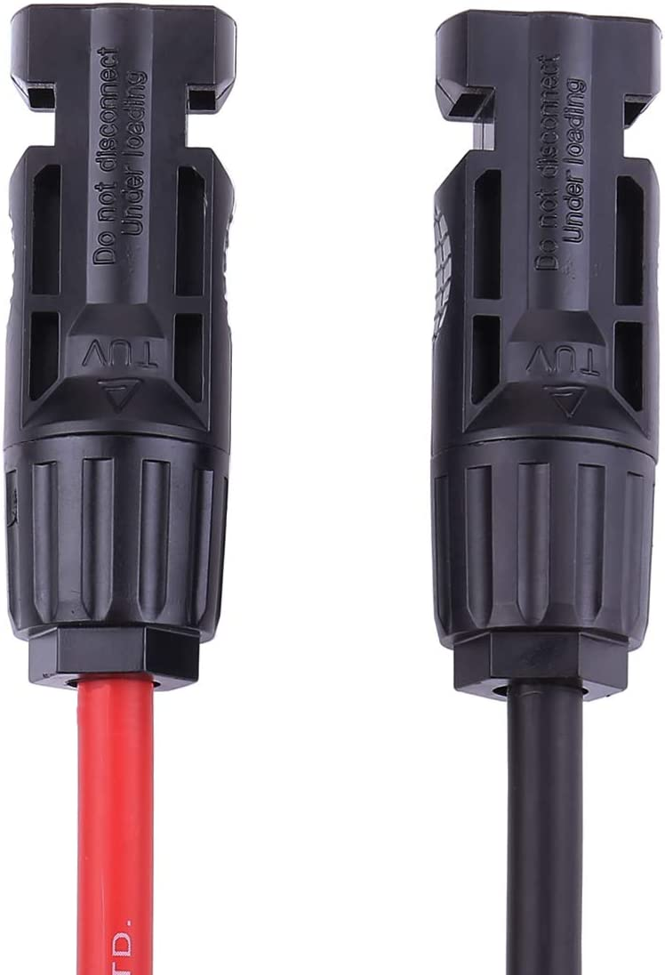 1800V Double Insulated Quality Wire by BMF DIRECT/® Solar Panel PV Cable DC Rated Black /& Red 4mm/² 6mm/² 10mm/² MC4 Connectors 2 Pairs, Black