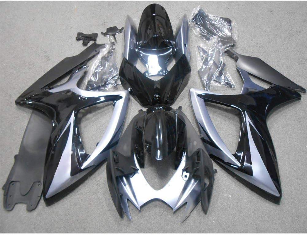ZXMOTO Glossy Black ABS Plastic Motorcycle Bodywork Fairing Kit For 2006 2007 Suzuki GSXR 600 GSXR 750 Fairings Set