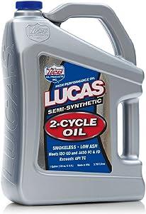 Lucas Oil 10115 Semi-Synthetic 2-Cycle Oil - 1 Gallon Jug