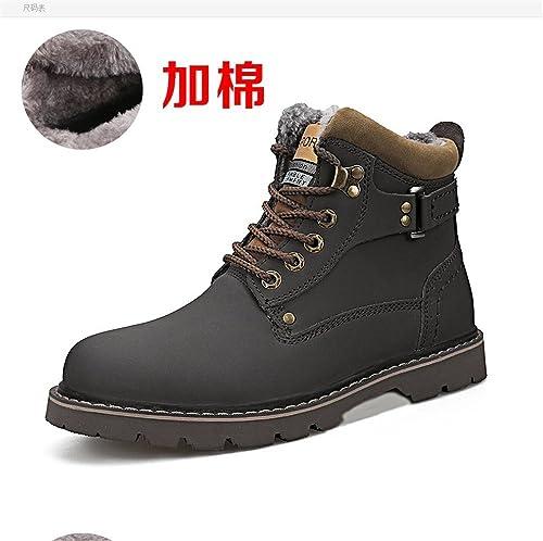 TMKOO Inverno nuovo high-top scarpe da uomo britannico retrò caldo stivali da neve all'aperto scarpe casual uomo grandi scarpe