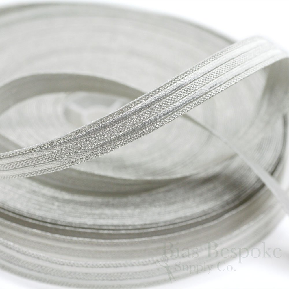 KNOX Pale Silver Double Stripe Military Bullion Braid Trim: 27 Yard Roll by Bias Bespoke