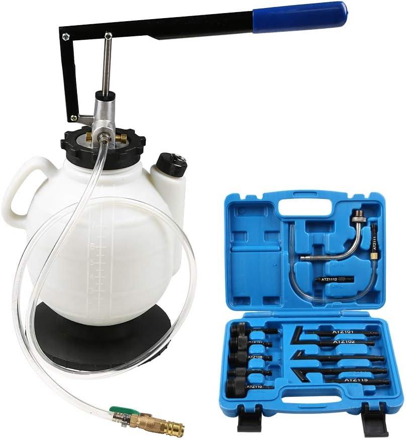 Bomba Llenado Sistema Transmisión Manual 7.5L Suministrador de Aceite Bomba Extractor de Aceite Dispensador con 15 Adaptadores
