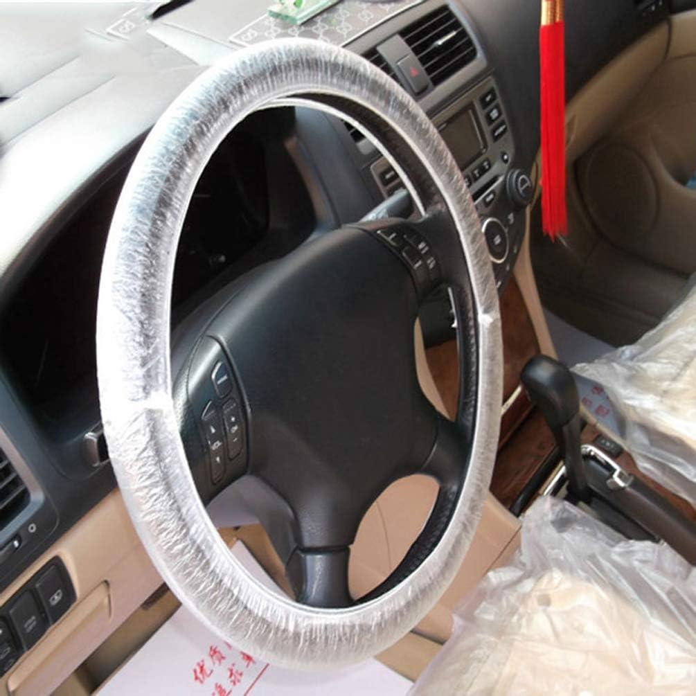 air-SMART 100//500Pcs Universa Car Disposable Steering Wheel Covers Plastic Steering Wheel Cover Films Auto Accessory