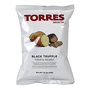 Torres - Black Truffle Potato Chips, 1.41oz (40g) (3-PACK)