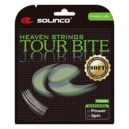 Set 16g String - Solinco Tour Bite Soft (16-1.30mm) Tennis String (Silver)