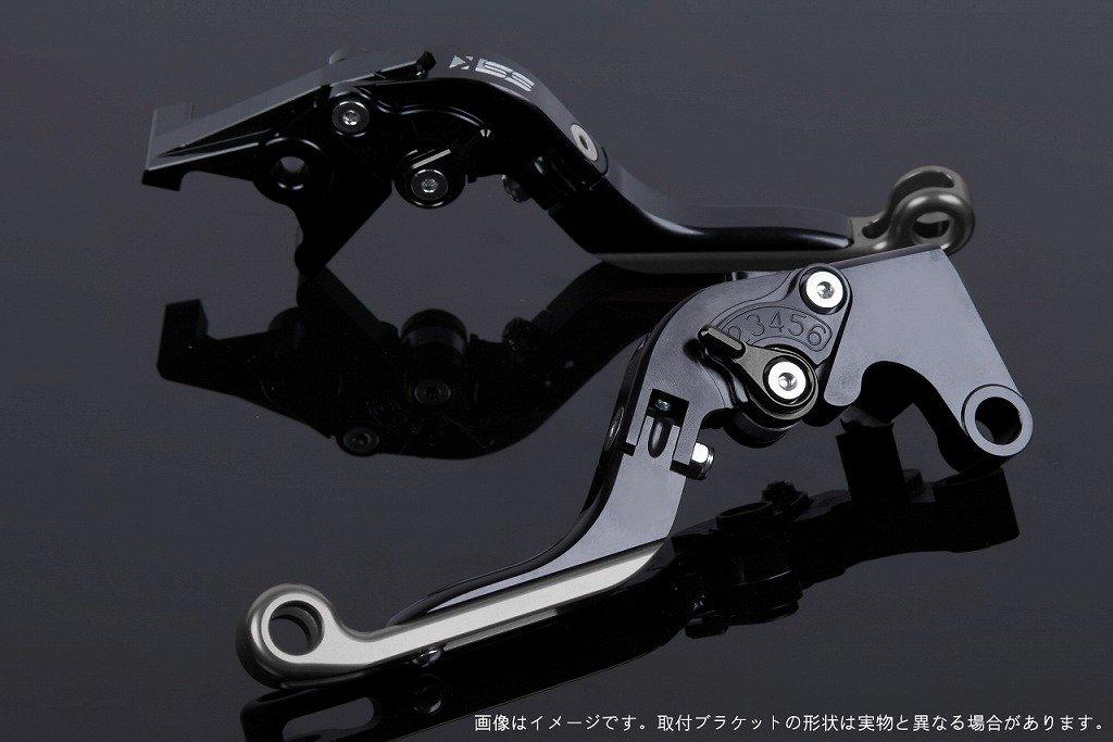 SSK アジャストレバー 可倒延長式 レバー本体カラー:ブラック アジャスターカラー:ブラック エクステンションカラー:チタン CBR250RR MC51 2017-2018 HO0407060-BKTM B07MX7HSSD