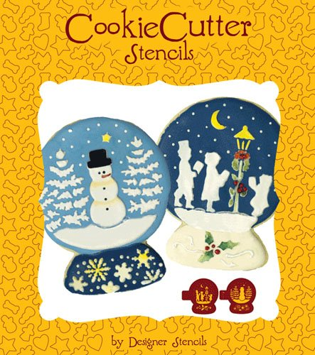Snowglobe Cookie Stencil Set (no cutter) by Designer Stencils