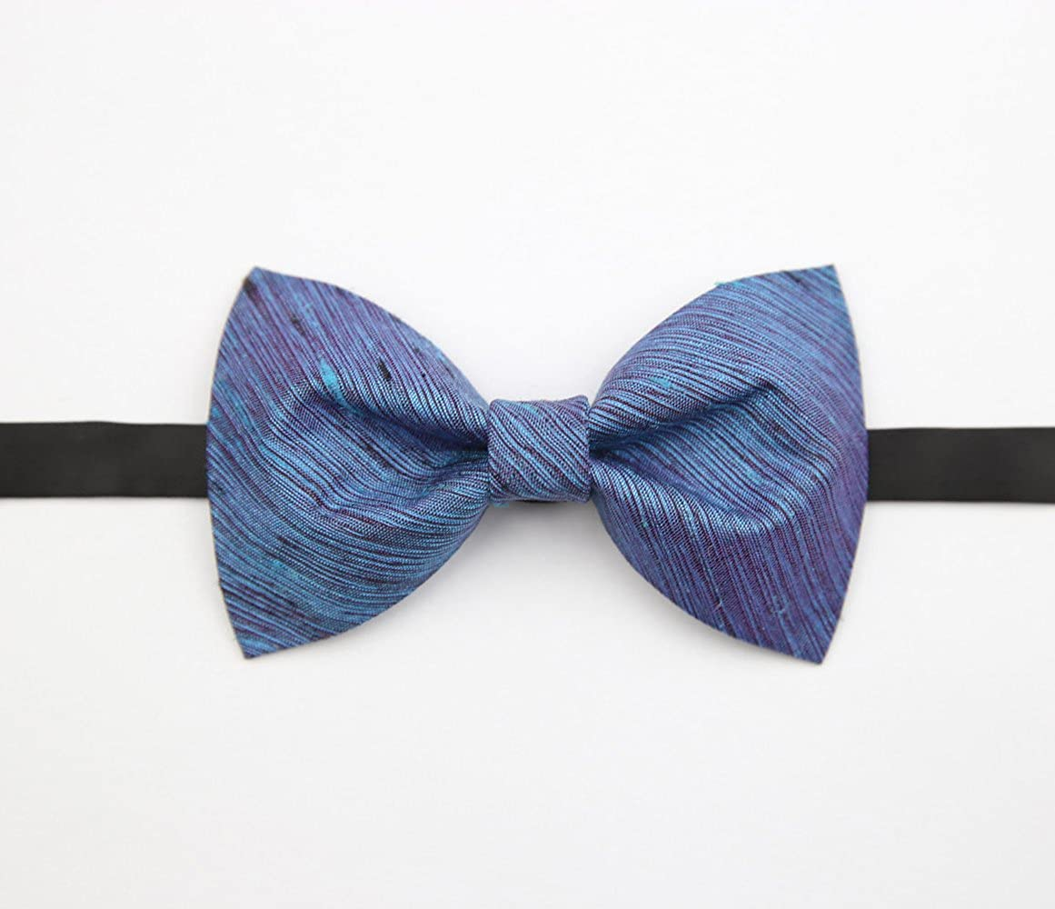 Amytong handmade mens bow tie wedding groom party gift wedding blue bow tie