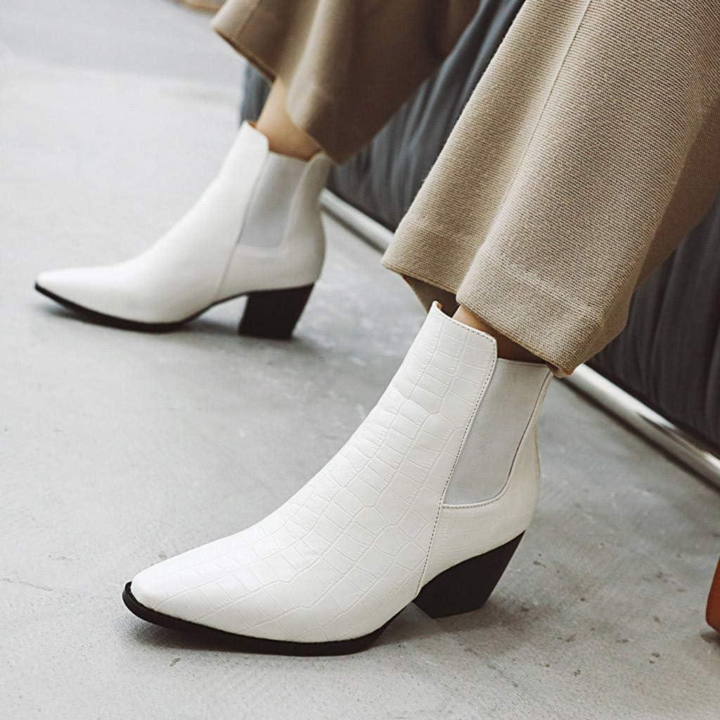 Damen Stiefeletten Elegante Stiefel Boots Ankle Leder
