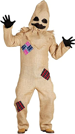 Malvado espantapájaros disfraz de Halloween con capucha bolso ...