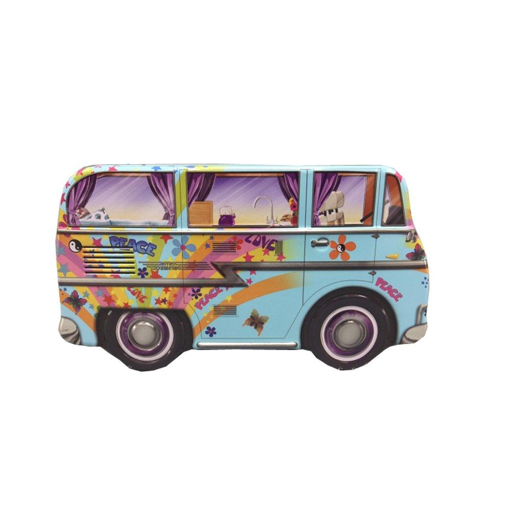 Mini Camper Van Hippy 17x9x7 cm Caja de Galletas stylebox Caja de conservaci/ón y Decorativa de Metal Deco Box Retro
