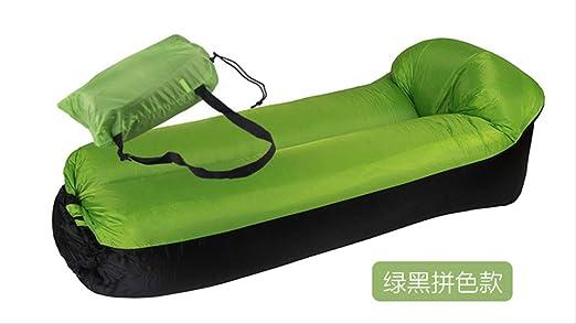 STARKWALL Aire Inflable Sofá De Dormir Bolso De Jardín Al Aire Libre Muebles De Playa Tumbona Sillón Plegable Rápido Sofá Cama Verde: Amazon.es: Jardín
