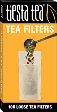 Tiesta Tea | Loose Leaf Tea Filters | 100 Count | Disposable Tea Infuser | 100% Natural Unbleached Paper | Steeps Tea and Co