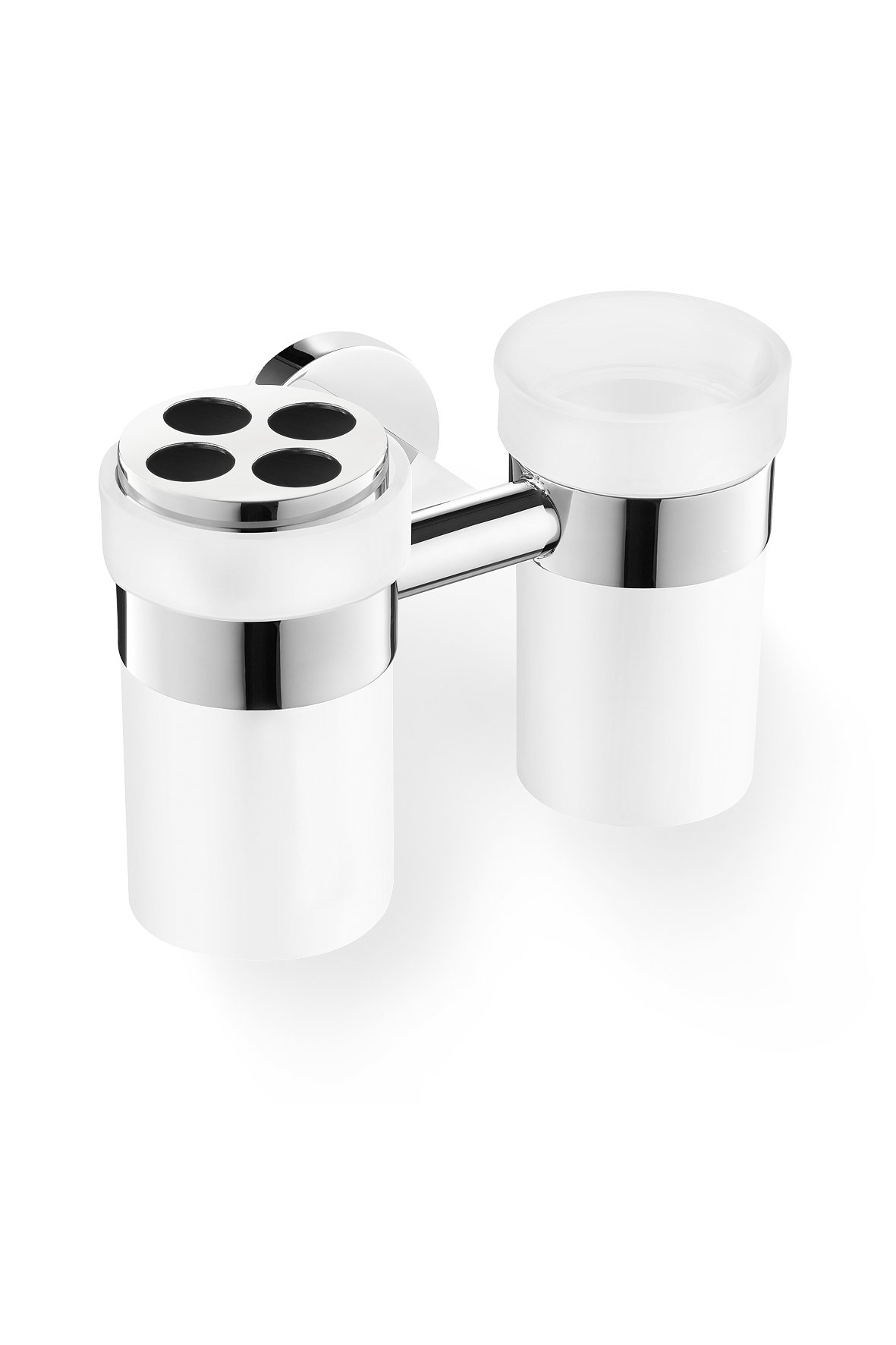 Zack 40099 Scala Wall Mounted Tumbler Set with Holder with High Gloss