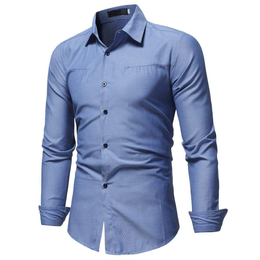 Amazon Photno Mens Dress Shirtslong Sleeve Button Down Shirt