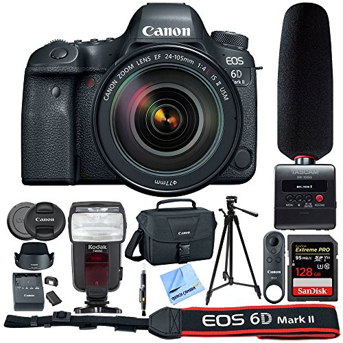 Canon EOS 6D Mark II 26.2MP Full-Frame Digital SLR Camera  w