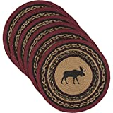 VHC Brands 34385 Rustic & Lodge Tabletop & Kitchen-Cumberland Tan Round Jute Tablemat Set of 6