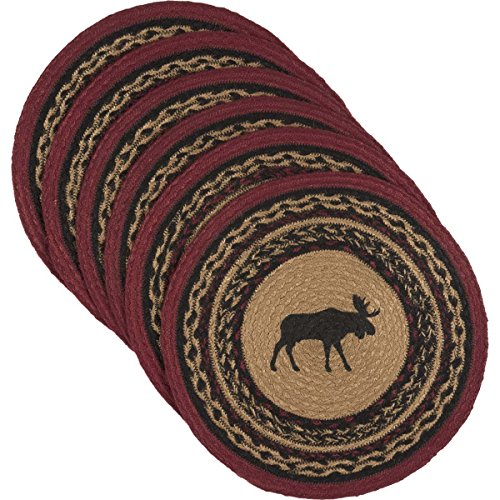 VHC Brands 34385 Rustic & Lodge Tabletop & Kitchen-Cumberland Tan Round Jute Tablemat Set of 6 by Unknown