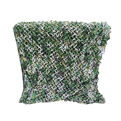 XMGJ Camouflage Net Ocean Sunscreen Swimming Pool Sun Shade Net Sunscreen Kindergarten Decoration Outdoor Hunting Mountain Green