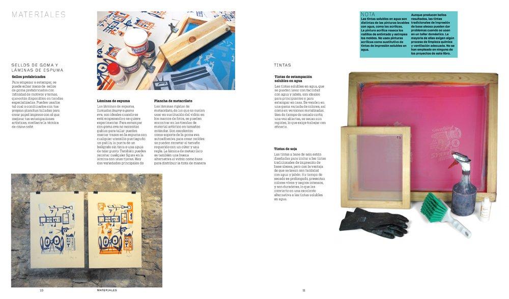 Todo lo que necesitas saber para estampar con linóleo, goma, espuma y sellos: Andrea Lauren: 9788425229800: Amazon.com: Books