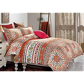 3D Boho Printing Bohemian Printed Mandala 100% BRUSHED MICROFIBER Bedding 3pc Duvet Cover Sets Full size