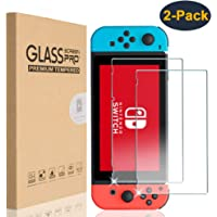 HEYUS For Nintendo Switch Screen Protector Glass, [2 Pack] Premium Tempered Glass Screen Protector for Nintendo Switch