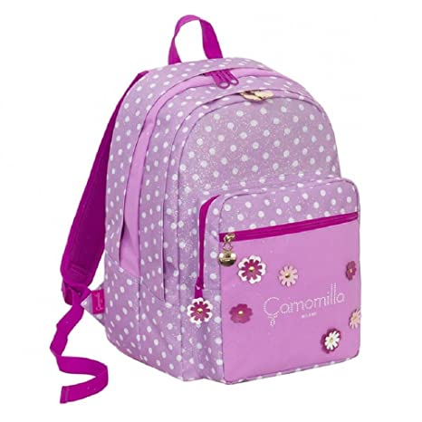 9b106a7f24 Zaino Scuola Seven Big Plus Camomilla Camomilla Flower&Dots Rosa ...