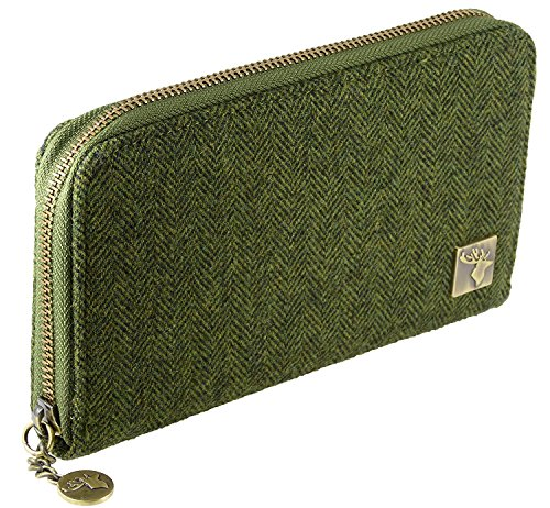 Various Purse Staffa Tweed Green Pe003t In Long Ladies Zip Colours qRY7Ot