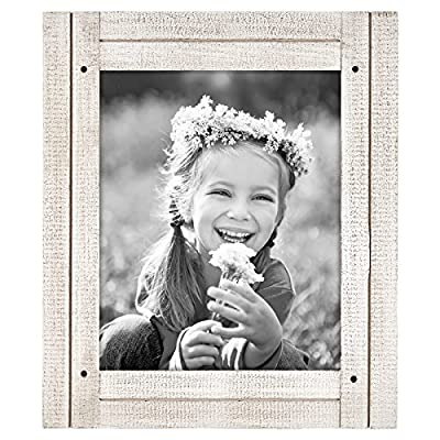 Americanflat Distressed Wood Frame - Ready to Hang - Ready to Stand - Built-in Easel