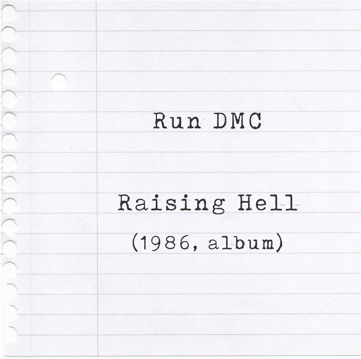 Album Print Lyrics Gift Framed Original Art Raising Hell Run DMC Poster