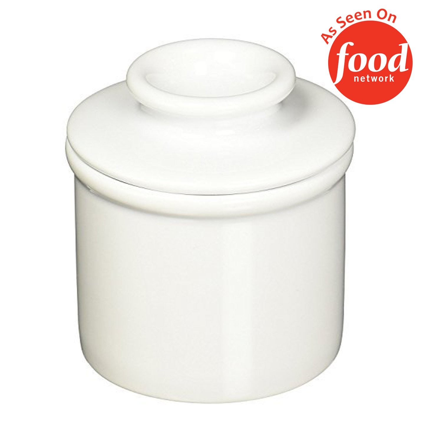 The Original Butter Bell Crock by L. Tremain, Retro & Matte Collection - White