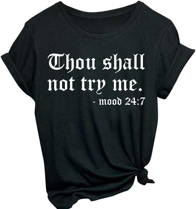Amazon.com: TIANRUN - Camiseta de manga corta para mujer con ...