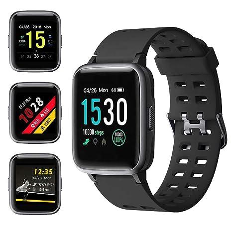 Amazon.com: Reloj inteligente deportivo para mujer, monitor ...