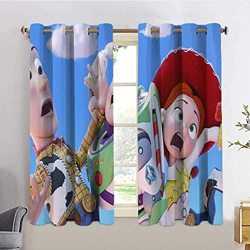 HoMdEfW Grommet Curtain Panels Toy Story 05,W72 INCH x L63 INCH Indoor Decoration