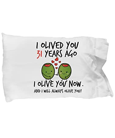 Amazon Com 31st Wedding Anniversary Gifts For Him I Olived You