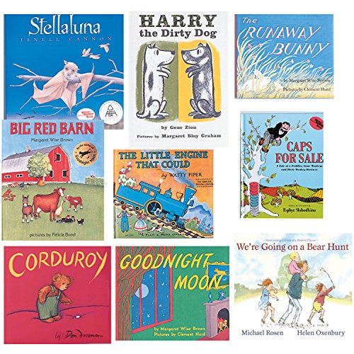 Constructive Playthings BOK-100 Children's Classic Library Hardcover Books, Grade: Kindergarten to 1, Set of 9 by Constructive Playthings
