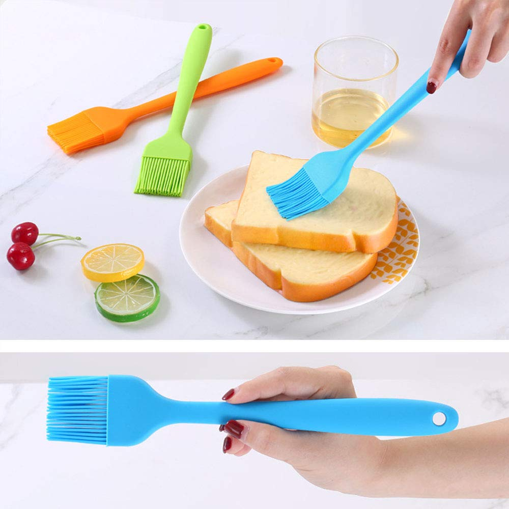 Silicone Basting Brush,Food Grade Pastry Brush, Kitchen Brush With High Temperature Resistance,Use For BBQ Grilling/Dessert Baking/Marinating, 8\