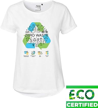 Eco Zero Waste Please Reciclar - Camiseta de manga enrollada ...