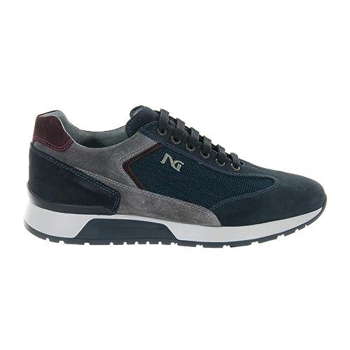 Nero Giardini Scarpe Uomo Sneaker Pelle Scamosciata Colorado Blu A800468U  200 n° 39 c2bd41ae625