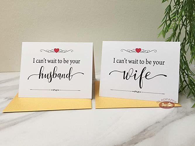 amazon com i can t wait to be your husband wife card wedding card