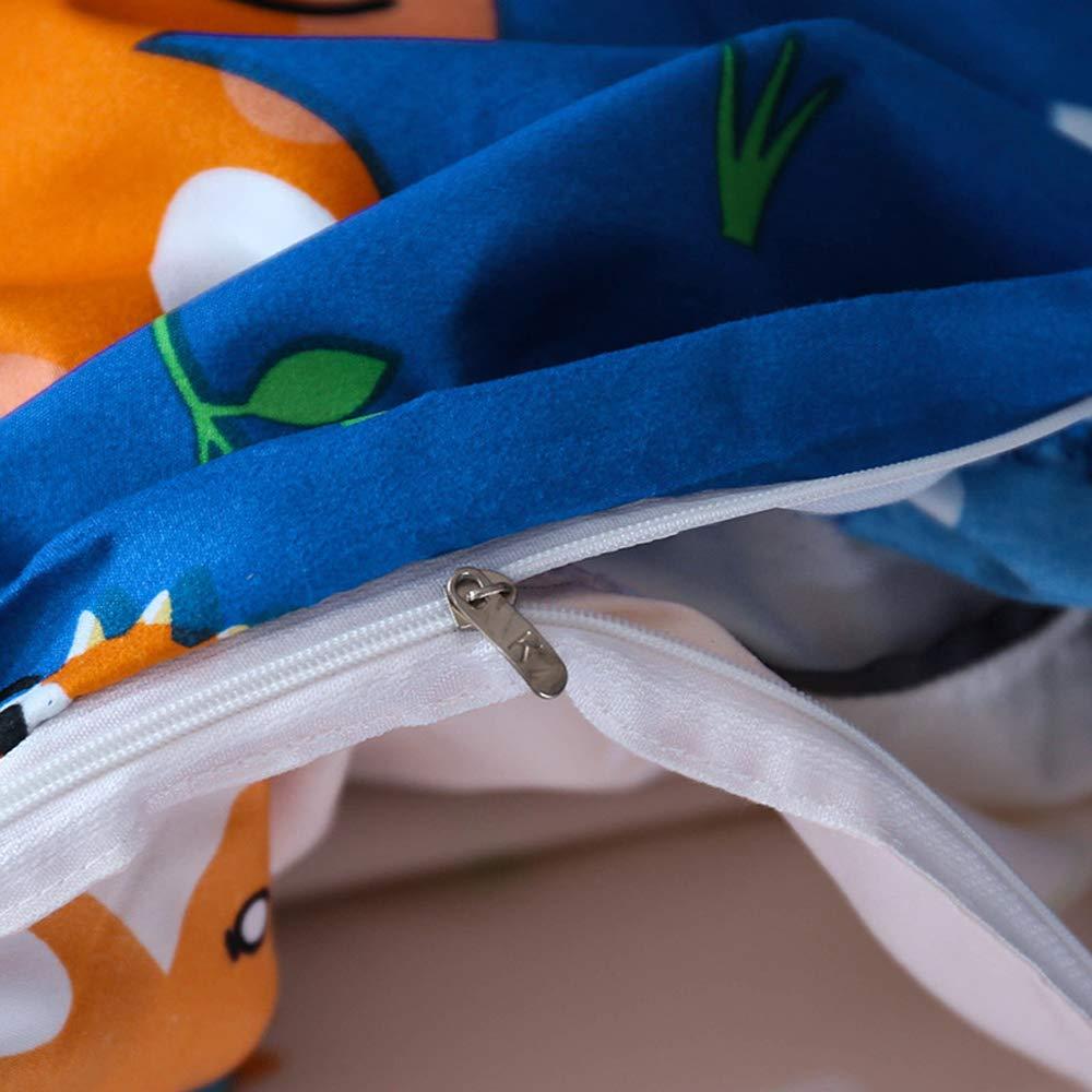 AShanlan Baby Kinder Bettw/äsche Autos 100x135 mit Kopfkissenbezug 40x60 100/% Mikrofaser Blau Cars Automotiv Junge Bettbez/üge Kinderbettw/äsche-Set Babybettw/äsche