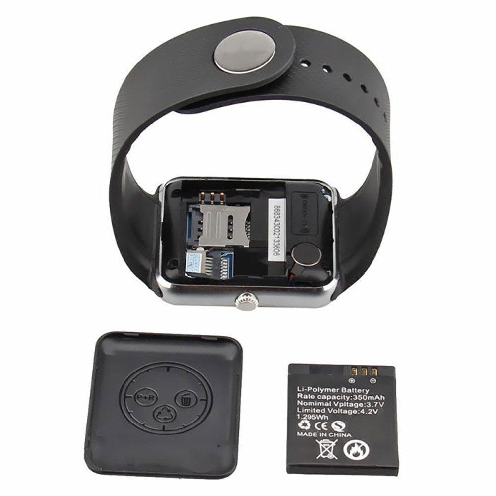 e763807fdcf4 Reloj Celular Smartwatch Gt08 Cámara Bocina Microfono Android Negro Plata   Amazon.com.mx  Electrónicos