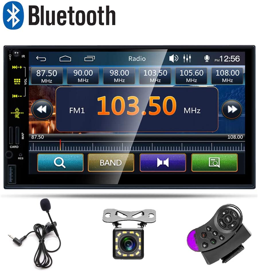 Microphone MP5 Car Player 2 Din AMprime Bluetooth Car Stereo 7 ...