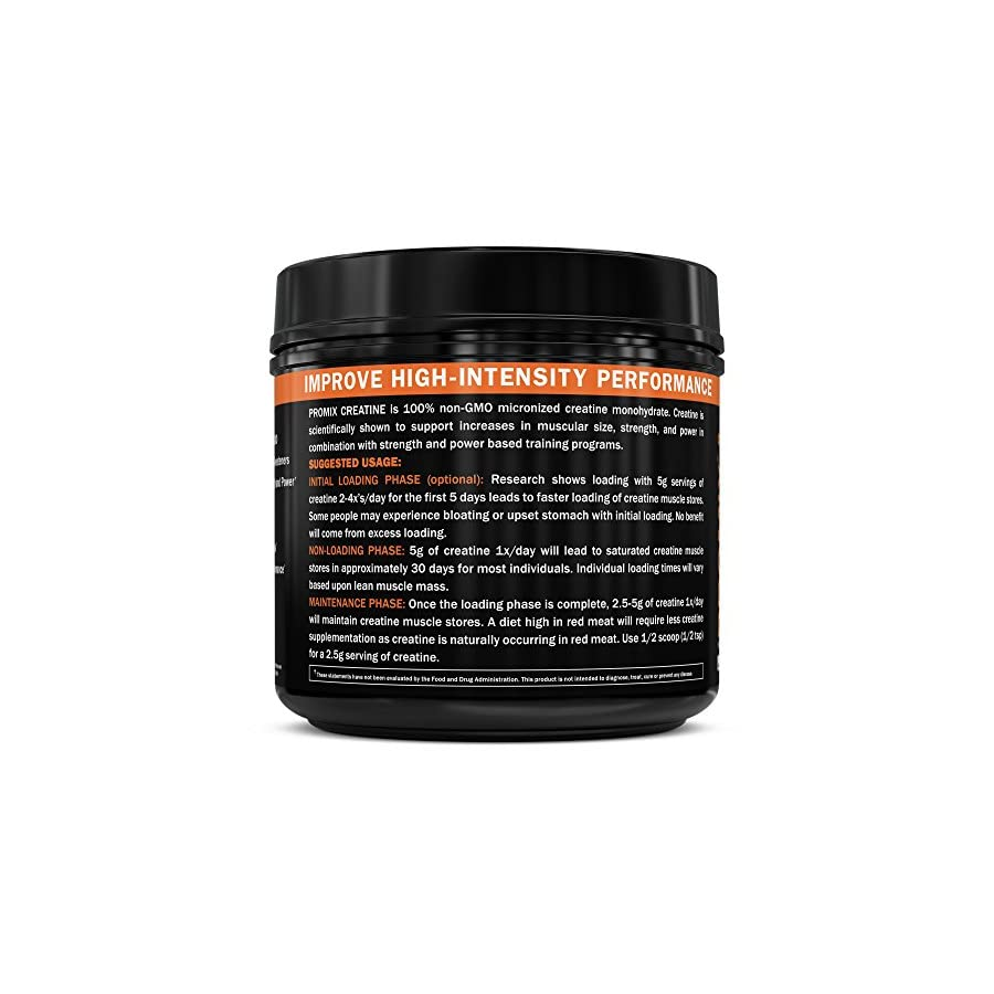 Creatine Monohydrate Powder Micronized Unflavored Instant Keto Paleo I PROMIX I 1 Ingredient 100% Purity I 3rd Party Tested I Non GMO Gluten + Soy Free I Men Performance Pre 100% Pure Choice I Lean