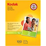 Kodak Photo Paper for inkjet printers, Matte Finish, 7 mil thickness, 8.5 x 11 inches, 100 sheets (8318164)
