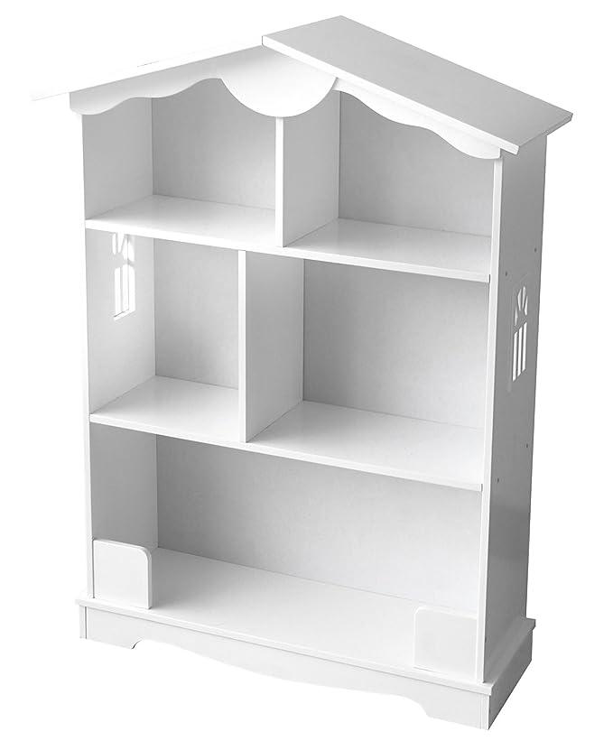 Estantería De Madera Estantería Para Libros Habitación Librero Para Niños Biblioteca Multiuso Almacenamiento y Organización Para Juguetes Color Blanco: ...